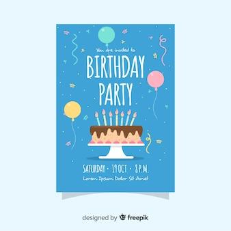 Zaproszenie na urodziny szablonu dzieci