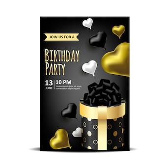 Zaproszenie na urodziny z pudełka do pakowania