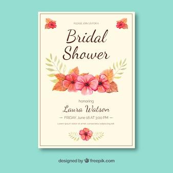 Zaproszenie na wesele kwiatów zaproszenie