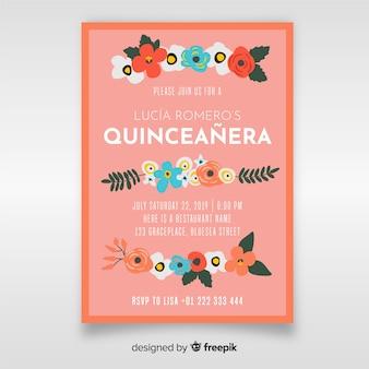 Zaproszenie quinceanera