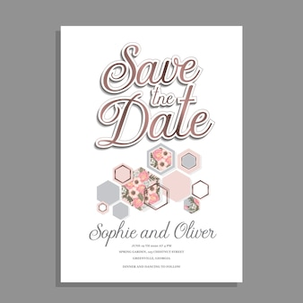 Zaproszenie ślubne kwiatowy wzór