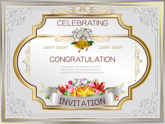Zaproszenie ślubne ramki