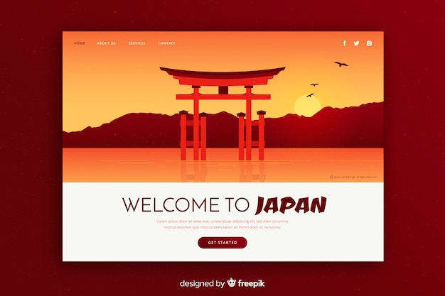 Zaproszenie turystyczne do japonii szablon