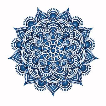 Zaproszenie vintage design z wzorem mandali na fioletowym tle
