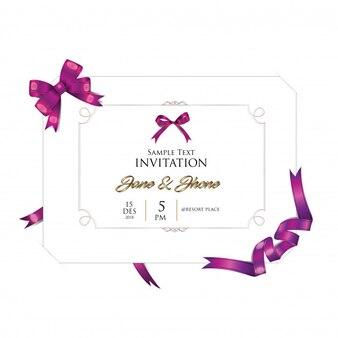 Zaproszenie wyglądają ładnie