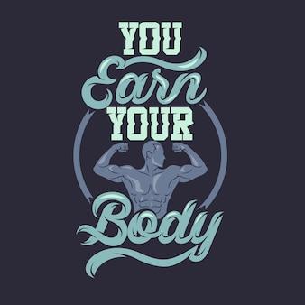 Zarabiasz swoje ciało. przysłowia i cytaty z siłowni premium