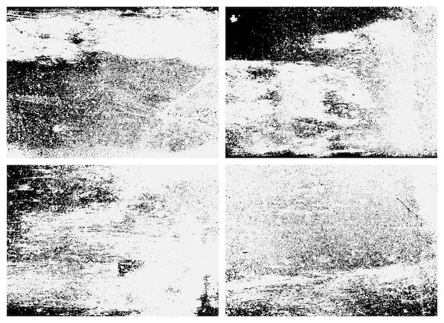 Zardzewiały zestaw chropowatości powierzchni. czarno-biała tekstura. tekstura nakładki z zardzewiałego metalu.