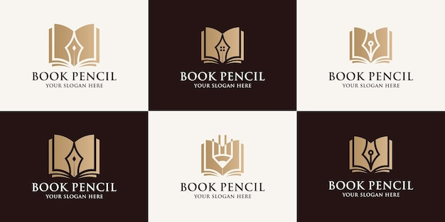 Zarezerwuj logo inspiracji ołówkiem dla symbolu edukacyjnego