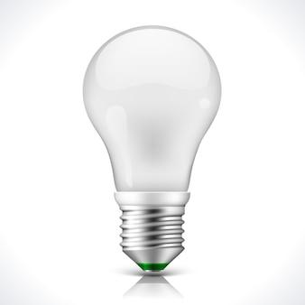 Żarówka energooszczędna na białym tle