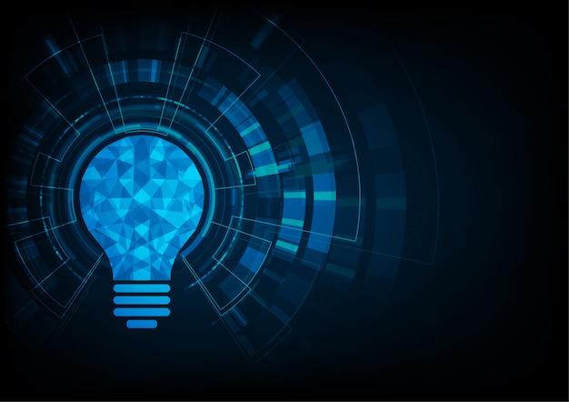 Żarówka jako pomysł kreatywnego tła technologii