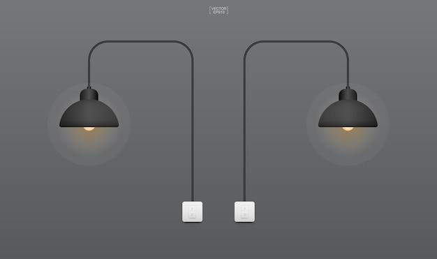Żarówka lub lampa z ciemnym tłem