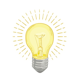 Żarówka świecąca jasnożółtym światłem