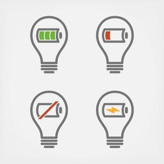 Żarówki z bateriami projektowania