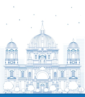 Zarys berlińskiej katedry w berlinie