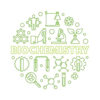 Zarys biochemii zielony okrągły ilustracja