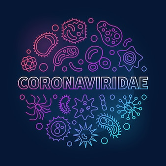 Zarys coronaviridae koncepcja kolorowe okrągłe ikony