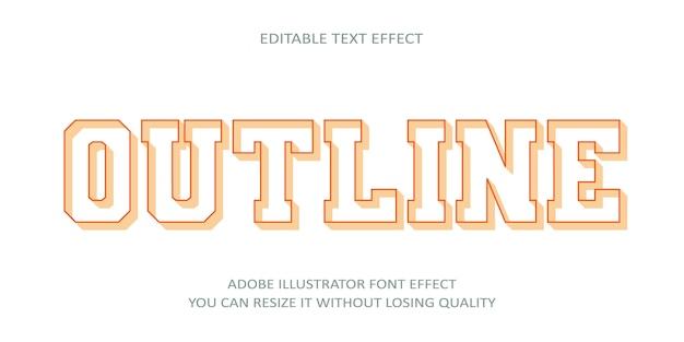 Zarys edytowalny tekst efekt