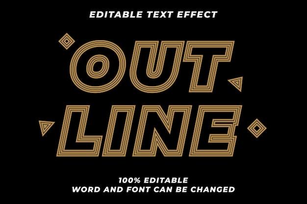Zarys efektu stylu tekstu