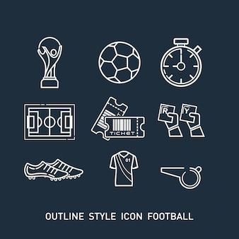 Zarys ikony piłki nożnej