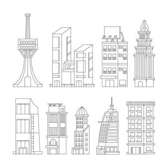 Zarys kolekcji budynków