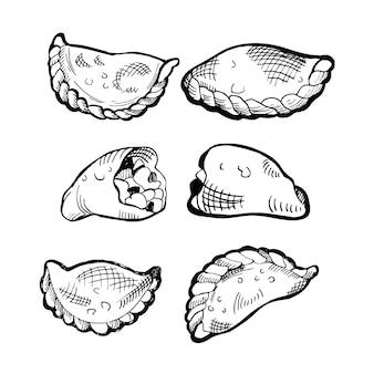 Zarys kolekcji hiszpańskiej żywności empanada