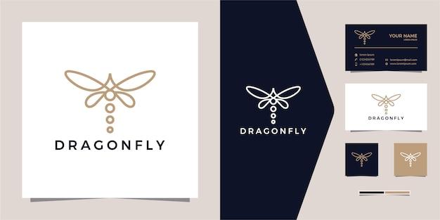 Zarys linii dragonfly monoline logo