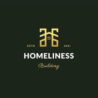 Zarys logo domu w nowoczesnym stylu