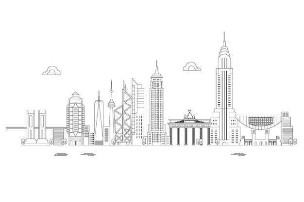 Zarys panoramę zabytków