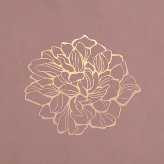 Zarys złoty kwiat flower