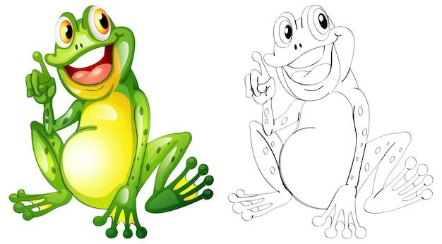 Zarys zwierząt dla małej żaby