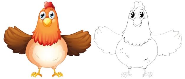 Zarys zwierząt dla matki kury