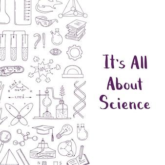 Zarysowane elementy nauki lub chemii