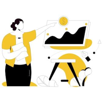 Zarządzanie biznesem ilustracja stylu płaskiego