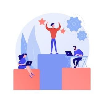 Zarządzanie biznesem, podporządkowanie, organizacja pracy personelu. działy firmy, centrala i spółki zależne. postaci z kreskówek wykonawczych i zastępców
