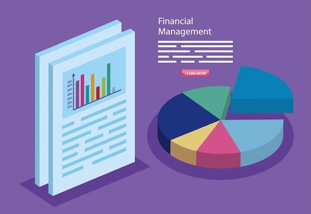 Zarządzanie finansami z infografiką i dokumentem