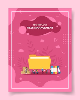 Zarządzanie plikami dla szablonów banerów, ulotek, okładek książek, czasopism