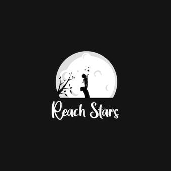 Zasięg logo sylwetki gwiazdy