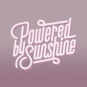 Zasilany słońce tekst typografia wektor
