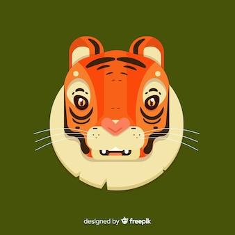 Zaskoczony tygrys tło