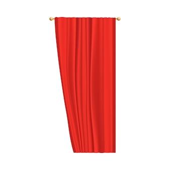 Zasłona z czerwonego aksamitu do przedstawień teatralnych