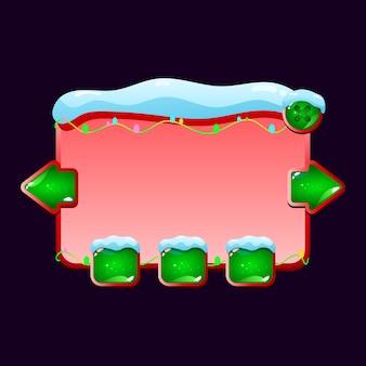Zaśnieżona tablica pojawia się dla elementów zasobu gui
