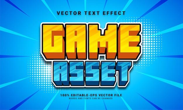 Zasób gry efekt tekstowy 3d, edytowalny styl tekstu i odpowiedni dla zasobów gry