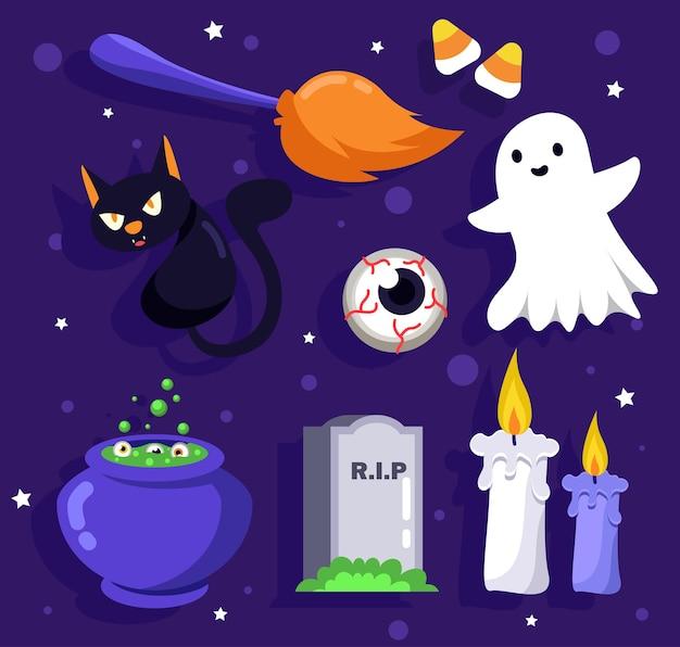 Zasób happy halloween dla powieści i grafiki