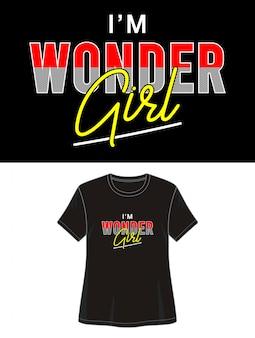 Zastanawiam się typografia dziewczyny do druku t-shirt