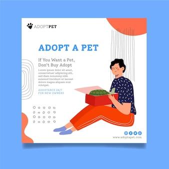 Zastosuj kwadratowy szablon ulotki dla zwierząt domowych