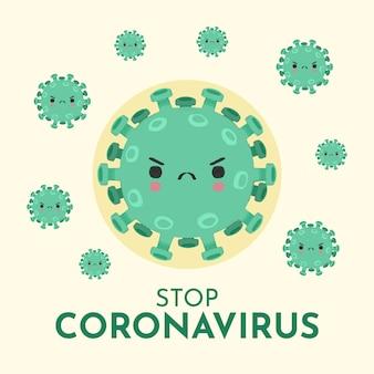 Zatrzymaj ilustracja koncepcja koronawirusa