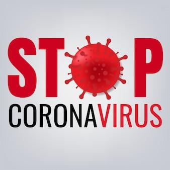 Zatrzymaj plakat coronavirus 2019 ncov