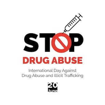 Zatrzymaj plakat nadużywania narkotyków.