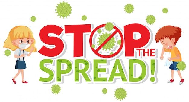 Zatrzymaj rozprzestrzenianie się znak koronawirusa