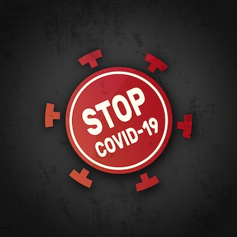Zatrzymaj symbol koronawirusa